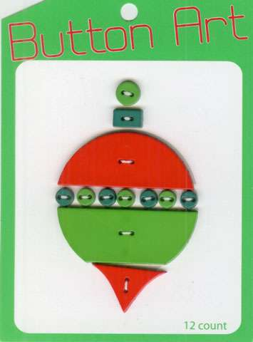 Christmas Bauble Button Art