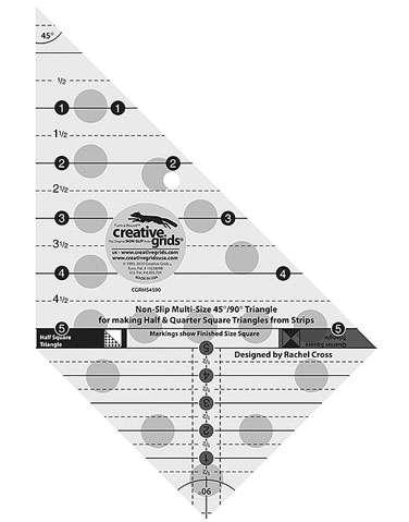 Creative Grids Multi Size Triangle 45 Deg/ 90 Deg Ruler preview
