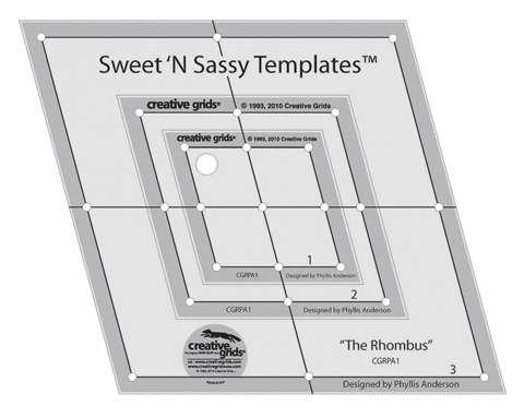 Creative Grids Sweet N Sassy Rhombus Template Set