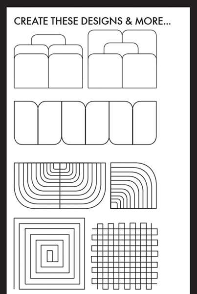 """Creative Grids Machine Quilting Tool - Shorty (4"""" x 4-1/2"""") preview"""