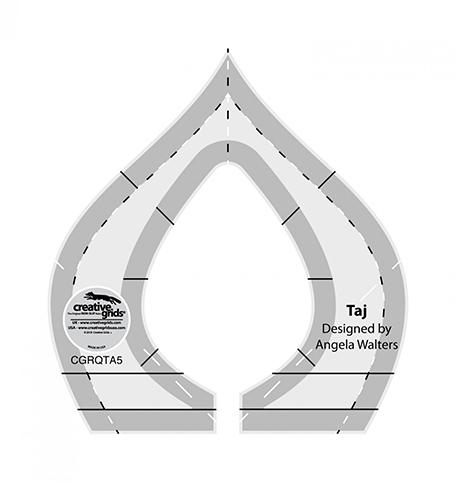 "Creative Grids Machine Quilting Tool - Taj (3-3/4"" x 4"") preview"