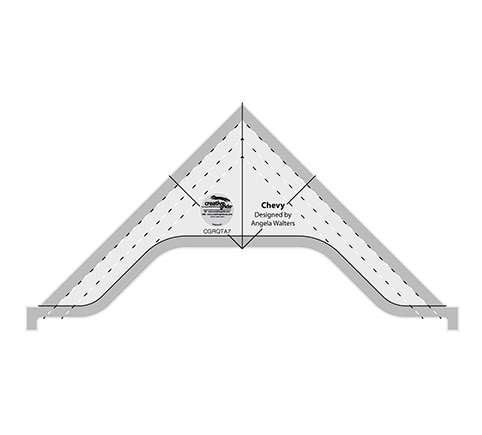 """Creative Grids Machine Quilting Tool - Chevy (4-1/2"""" x 8-1/2"""") preview"""