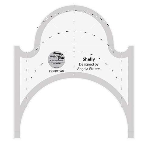 """Creative Grids Machine Quilting Tool - Shelly (4-1/2"""" x 5-1/4"""") preview"""