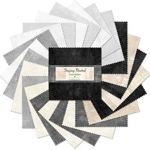 """5 Karat Mini-Gems - Staying Neutral - Dry Brush - 5"""" Squares 24 pieces per pack preview"""