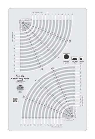 "Creative Grids Circle Savvy 11-3/4"" x 18-1/2"" Ruler"