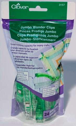 Clover Jumbo Wonder Clips (24 per pack)
