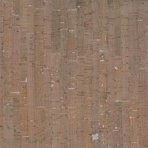 """Prepacked Cork Blend Fabric 18"""" x 15"""" - Taupe/Silver/Metallic preview"""