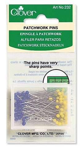 """Clover Patchwork Pins - 1 7/6"""" (38mm)"""