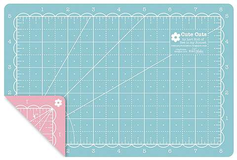 Mini Cutting Mat - Pink and Aqua