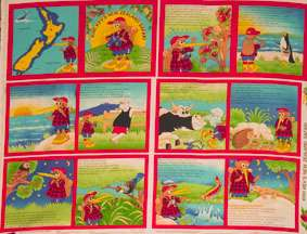 D562 Kev the Kiwi Cloth Book - Panel