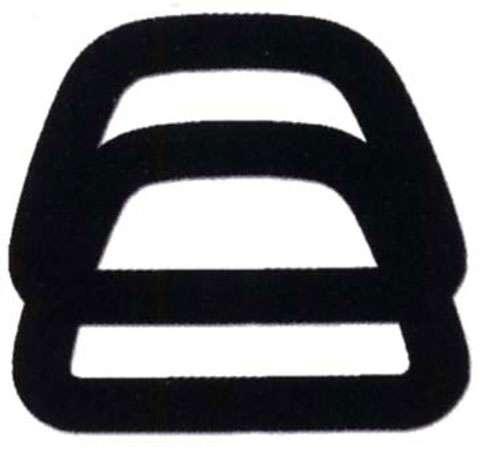 Clover D Shape Handle Black