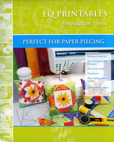 EQ Printables Foundation Piecing - 25 Sheets