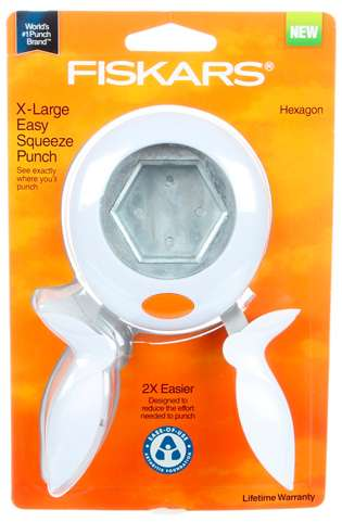 Fiskars Hexagon Easy Squeeze Punch - Extra Large (3/4 inch)