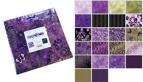 "Pansy Noir 10"" Squares (Layer Cake)"