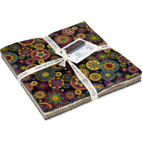"Penny Rug Flannels 10"" Squares (Layer Cake)"