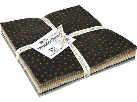 """Woolie Flannels 10"""" Squares (Layer Cake) - Neutral"""