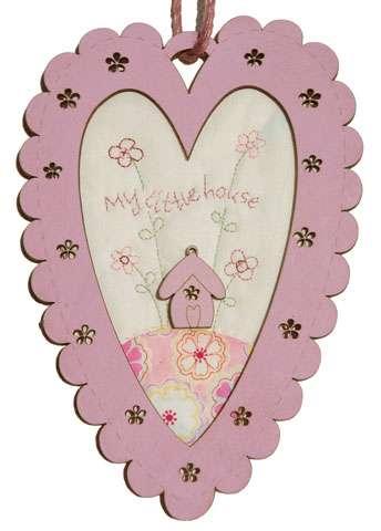 Pink Flower - Wooden Frame