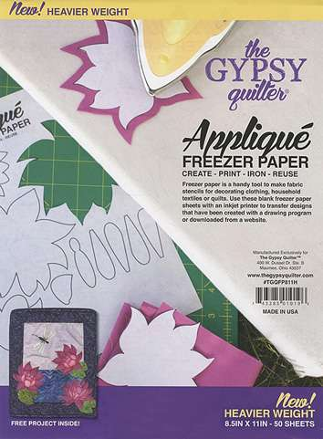 Gypsy Quilter Applique Freezer Paper - Heavier Weight