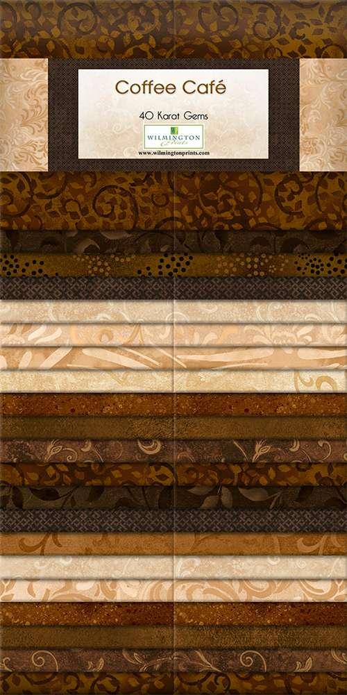 """40 Karat Gems - Coffee Cafe - 2.5"""" x 44"""" strips - 40 pieces preview"""