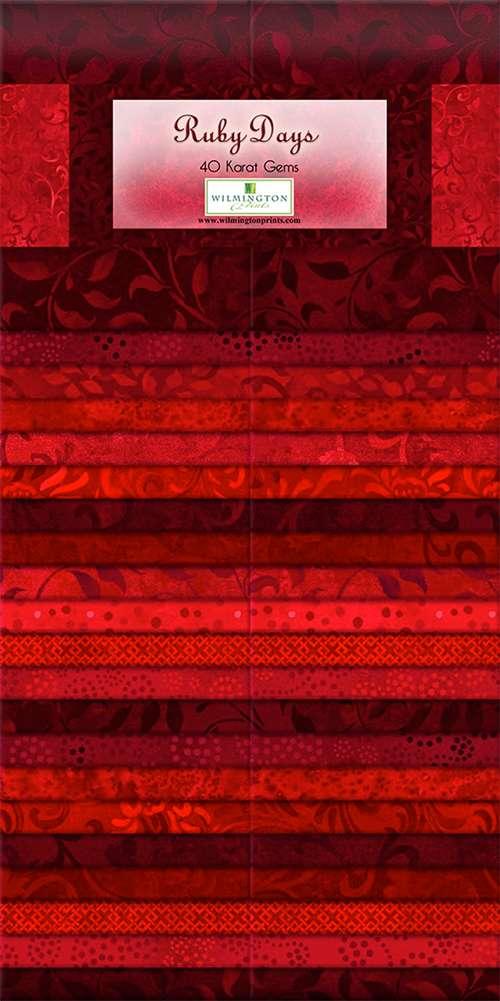 """40 Karat Gems - Ruby Days - 2.5"""" x 44"""" strips - 40 pieces preview"""