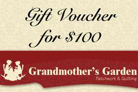 Grandmother's Garden Gift Voucher $100
