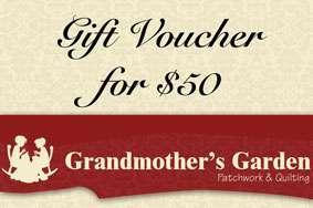 Grandmother's Garden Gift Voucher $50