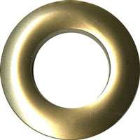 Grommets 25mm (matte gold) - 8 per packet