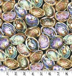 H181 Paua Shells on black preview