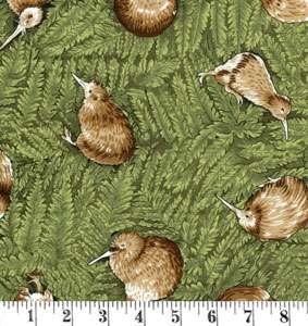 H184 Kiwis on green ferns