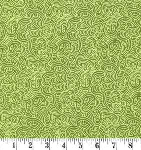 H395 Kiwiana - green tone on tone Koru design preview