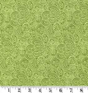 H395 Ponga Koru - green tone on tone