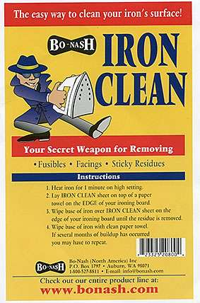 Iron Clean Cloth - 10 sheets per pack