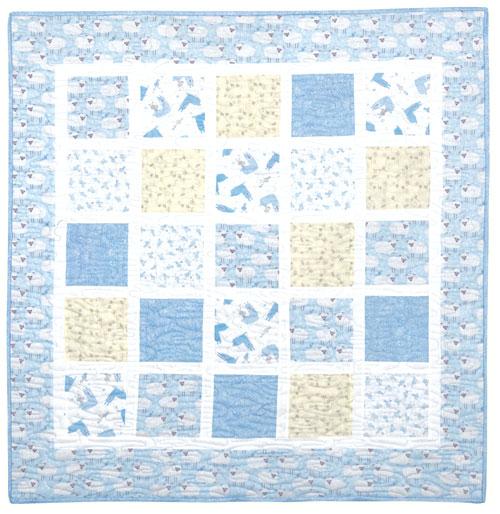 Blue Llamas Cot Quilt Kitset preview