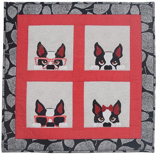 Boston Terrier Small Quilt Kitset  preview