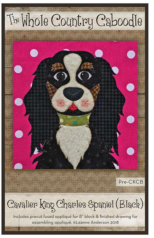 Cavalier King Charelse Spaniel (Black) Kitset - Whole Country Caboodle preview