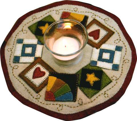 Candle Mat (Quilt Blocks) Kitset