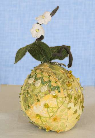 Crazy Patch Pincushion - Sweet Lemon