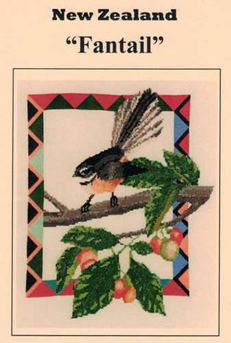 New Zealand Fantail Counted Cross Stitch Kitset