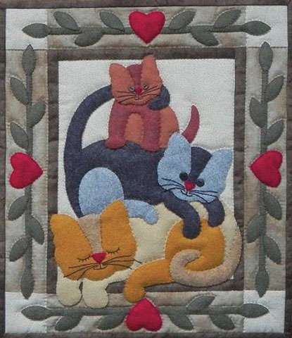 Cat Stack Wall Quilt Kitset