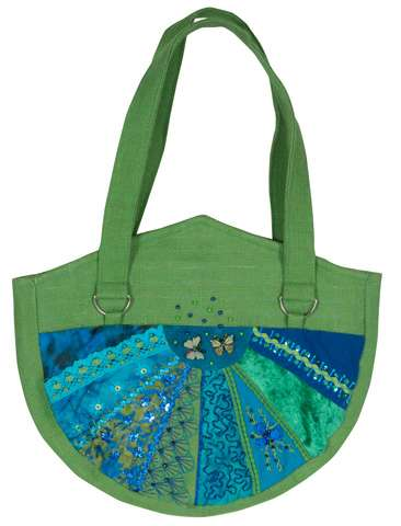 Catherine Wheel Bag Greeen - Kitset SPECIAL was $78.75