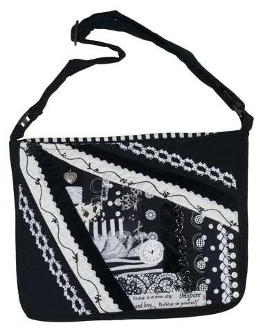 Ebony and Ivory Crazy Patch Bag Kitset