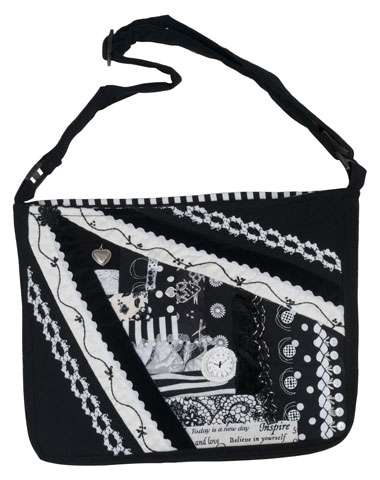 Ebony and Ivory Crazy Patch Bag Kitset