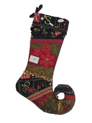 Elfin Christmas Stocking - Red - Kitset