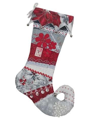 Elf Christmas Stocking - Silver - Kitset