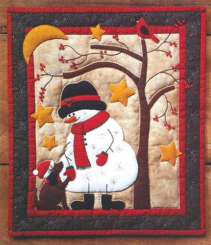 Frosty and Friend Wall Quilt Kitset