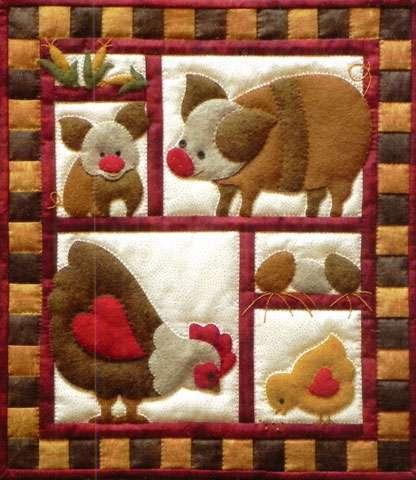 Ham & Eggs Wall Quilt Kitset