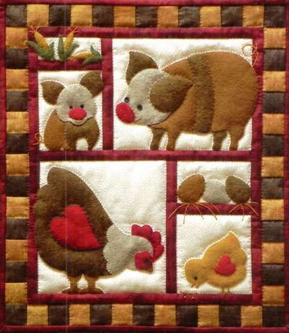 Ham & Eggs Wall Quilt Kitset preview