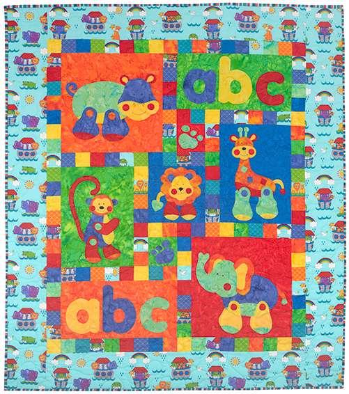 Alphabet Jungle Quilt Kitset preview