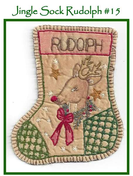 Jingle Sock #15 - Rudolph preview