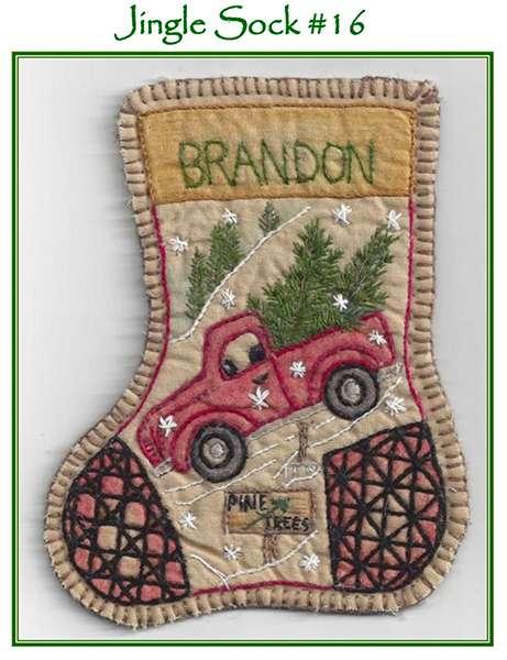 Kitset Jingle Sock 316 - Santa's Truck preview